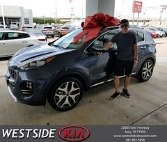 Congratulations Victor on your #Kia #Sportage from Rick Hall at Westside Kia!