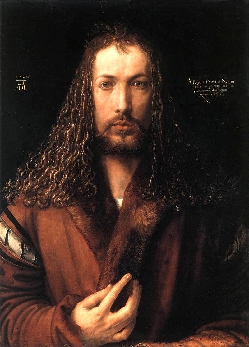 Albrecht Dürer self-portrait in a Fur-Collared Robe