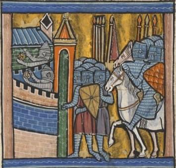 Siege of Nicaea, 13th century miniature