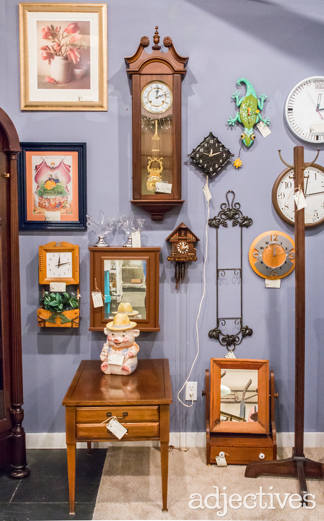 Unique clocks in Winter Garden by Timeless Treasures