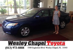 Happy Anniversary to Emma on your #Toyota #Camry from Ross MacDonald at Wesley Chapel Toyota!
