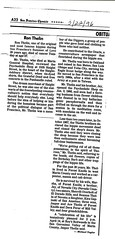 Ron Thelin, Obituary, San Francisco Chronicle, March 22 1996