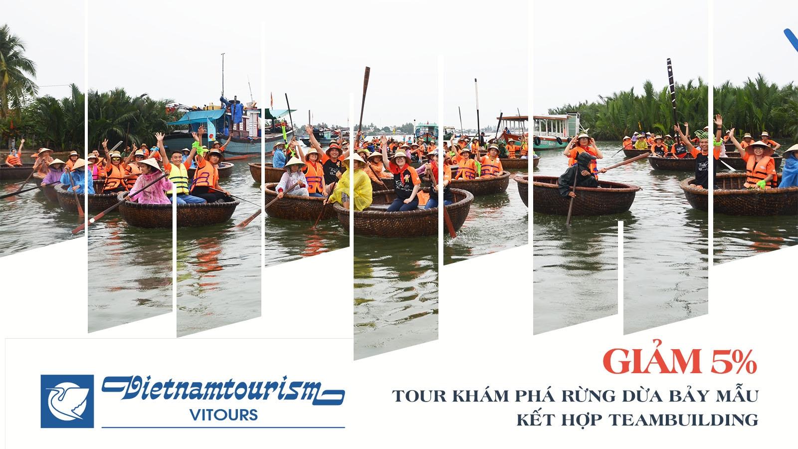 Vitours | Giảm 5% Tour tham quan Rừng Dừa Bảy Mẫu kết hợp team building 1