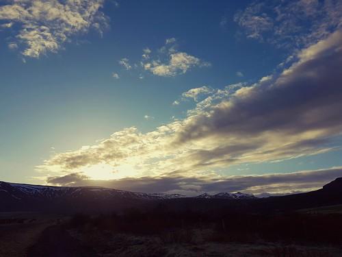 sunset laugardalur iceland oeiriks