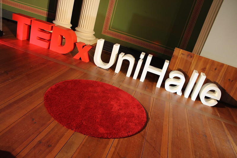 The TEDxUniHalle stage