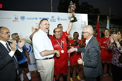 UN Staff, Diplomats, Students in Egypt Play Football on Sport Day