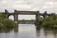 Disused Glazebrook - Timperley railway bridge, Manchester Ship Canal, May 2017