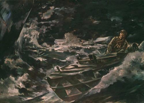 Kamikaze Motorboats in Lingayen Gulf