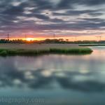 Sunset over Testwood Marshes, Southampton
