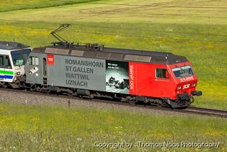 456 095-9 : 100 Jahre Strecke - Romanshorn, St. Gallen, Wattwil, Uznach
