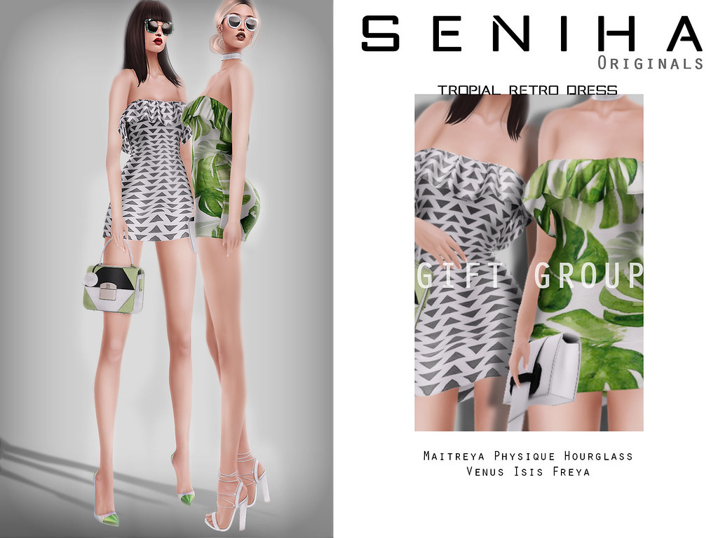 -GIFT- Seniha Originals. Tropical Retro Dress - SecondLifeHub.com