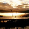 Good morning from #wellington. #sunrise_sunsets_aroundworld #sun #welly #wellywood #water #bridge #clouds #boats #nz #newzealand #twitter