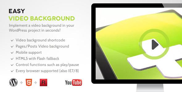 Easy Video Background WP v1