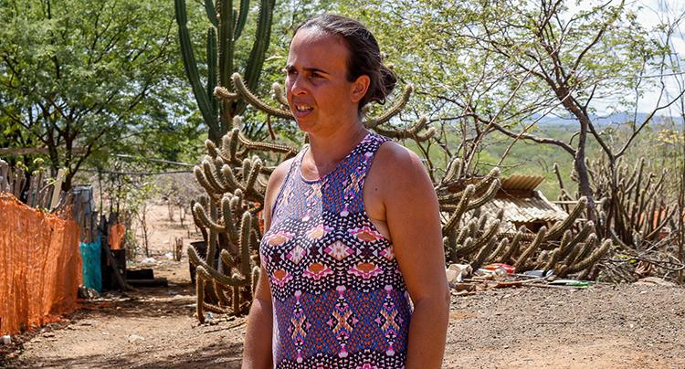 Marcia Maria Freire Araújo moradora de Sertânia, Pernambuco. Foto: José Eduardo Bernardes