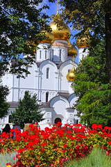 The Cathedral in a beautiful frame, Yaroslavl, Russia