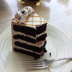 Chocolate Mocha Cake • 6.11.17 • #chocolatemochacake #chocolatecake #chouxchouxbakery #iatethis #foodphotography #foodporn #sundayafternoon #everett #everettwa #galaxys4