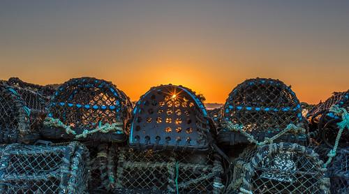 mudeford quay sun sunrise seaside seasons summer lobsterpot
