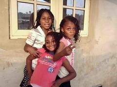 Young girls posing, Ushafa Village, Abuja, Nigeria. #JujuFilms