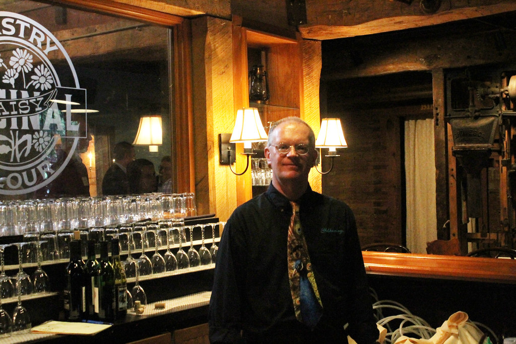bar man at the Daisy Flour Mill