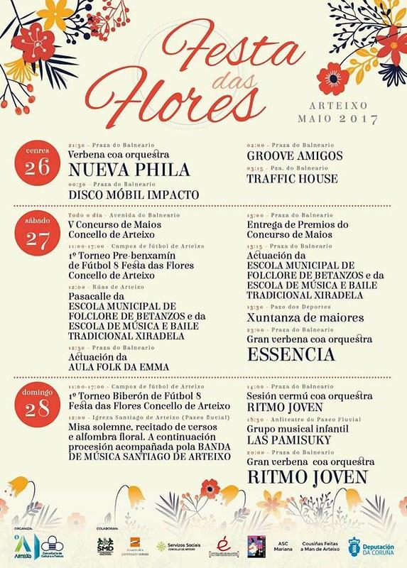 Arteixo 2017 - Festas das Flores - cartel