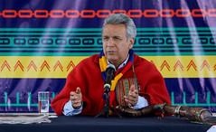 05/25/2017 - 13:21 - Cochasquí, Quito, jueves 25 de mayo del 2017 (Andes).-En las pirámides de Cochasquí, el presidente de la república Lenin Moreno realizó su primer conversatorio con representantes de los medios de comunicación. Foto:Andes/César Muñoz