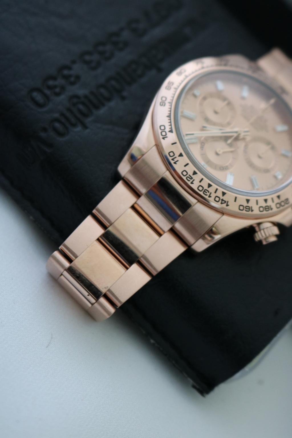 Đồng hồ rolex daytona 6 số 116505 – vàng hồng – mặt kim cương – size 40mm