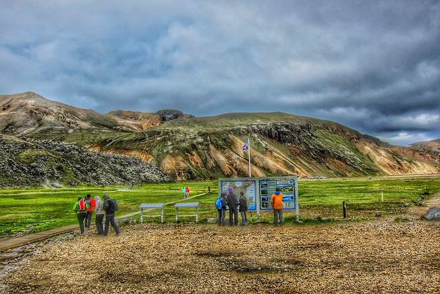 Iceland ~ Landmannalaugar Route ~  Ultramarathon is held on the route each July ~  Information Center