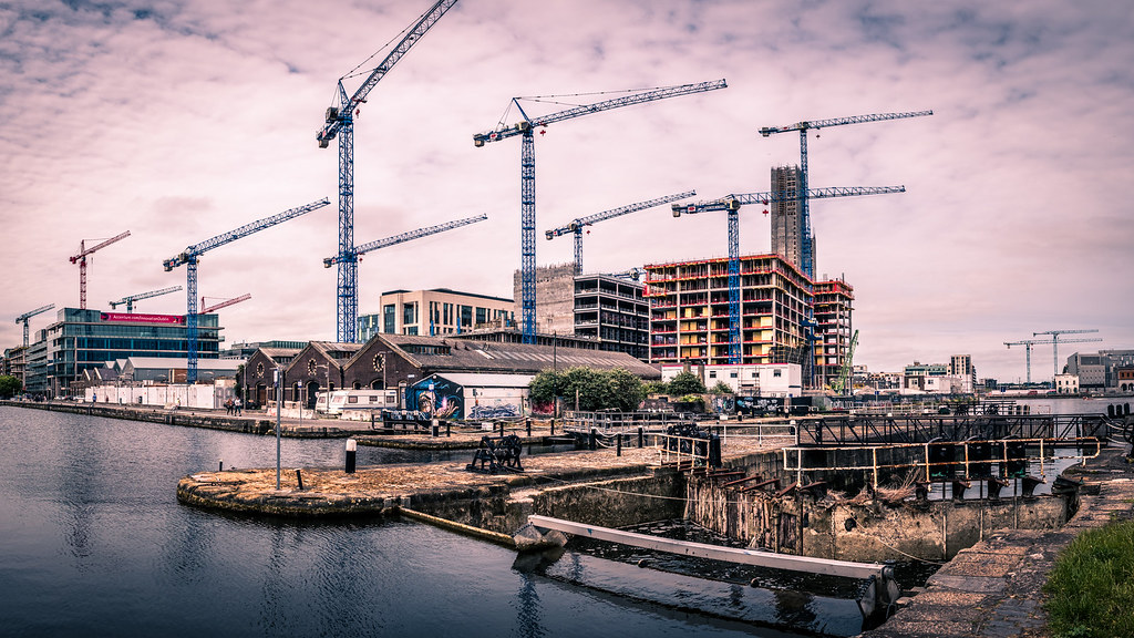 Capital Dock cranes, Dublin, Ireland picture