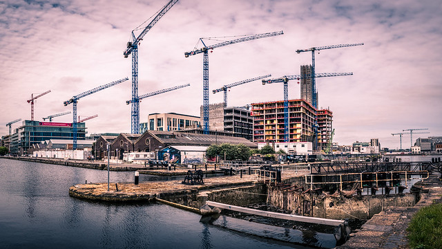 Capital Dock cranes - Dublin, Ireland - Architecture photography