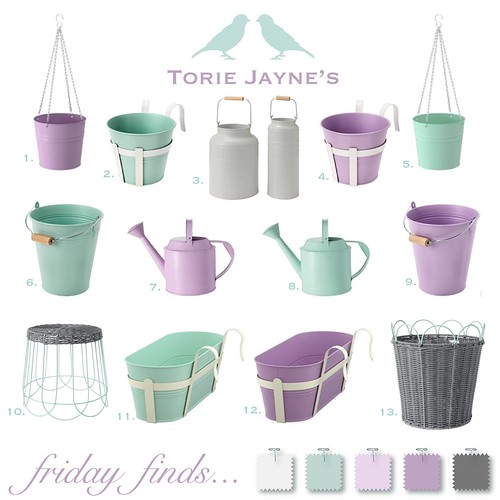 Friday Finds...Pretty Outdoor Plant Pots