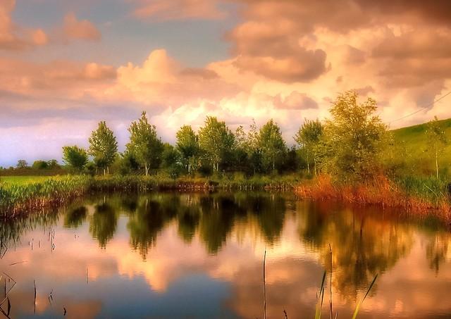 * Laghetto al tramonto  *  Sunset at the small lake  * (Explored) *