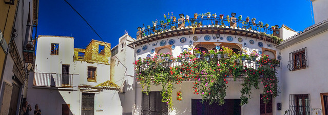A pretty residental house in Albayzin, Granada, Spain.