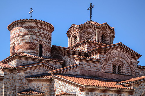 ohrid macedonia fyrom охрид македонија architecture building buildings historic history macedonian heritage city downtown town spring sunlight sunny sunshine light beautiful perspective angle church cathedral orthodox christianity detail details closeup ancient old travel traveling traveler balkan europe world fyromisnotmacedonia