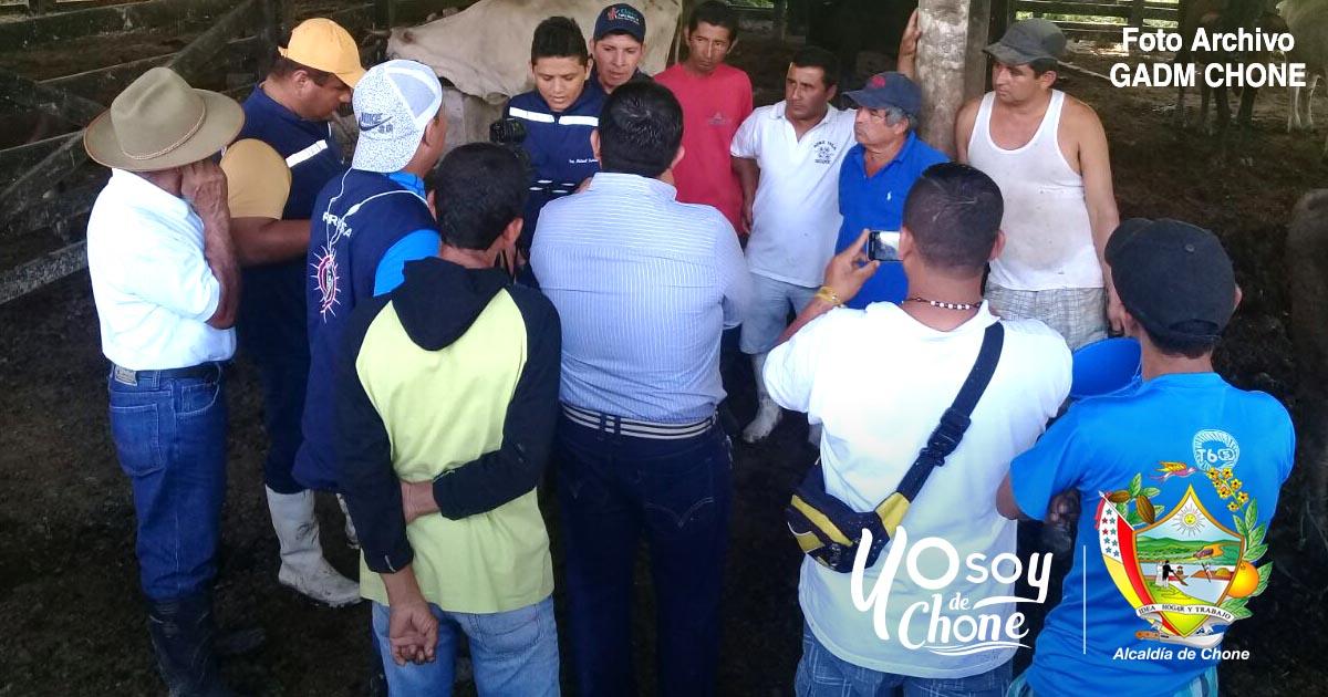 En comunidad de Cucuy alcaldía de Chone realizará día productivo