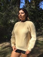 Ivory woolish sexy sweatergirl