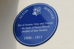 Photo of William Vincent, Edward William Gray, and Henry Austen blue plaque
