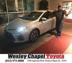 #HappyBirthday to Johan from Yuri Acosta at Wesley Chapel Toyota!