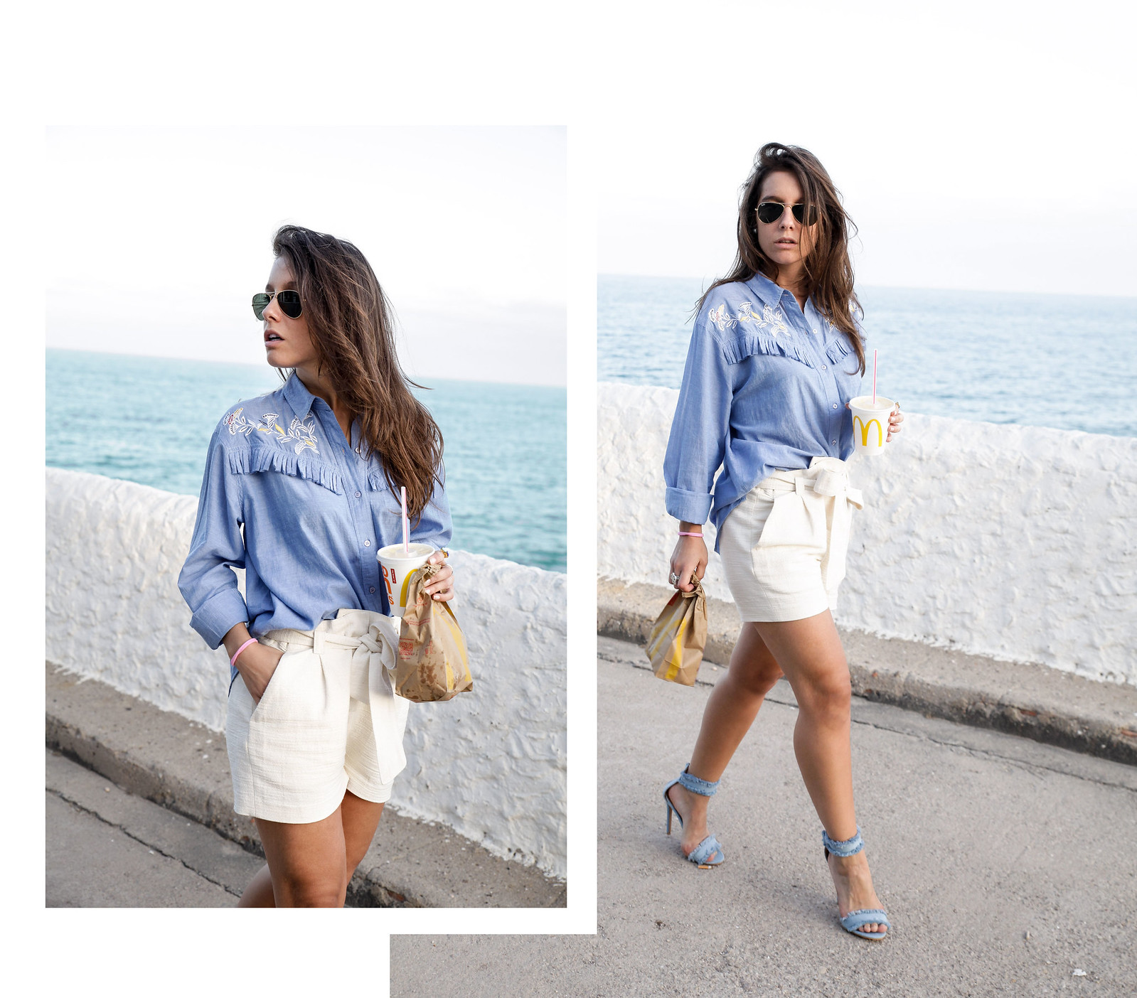 010_camisa_flecos_azul_mysundaymorning_fringed_shirt_fringed_theguestgirl_influencer_inspo_outft_summer_laura_santolaria_public_desire_denim_shoes_mc_donalds