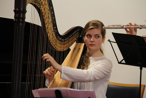 Girl with a harp