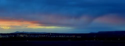 sliderssunday sunset mesa newmexico dramatic city albuquerque