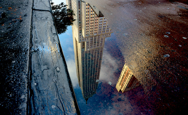 Reflection of the Empire State Building