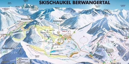Berwang Bichlbach Rinnen - mapa sjezdovek