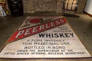 Peerless Whiskey  floor sign at the Peerless Distillery Louisville Kentucky