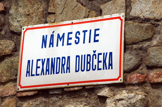 Header of Alexander Dubcek
