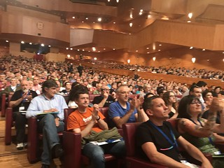A section of the large crowd at the first EH Bildu conference.