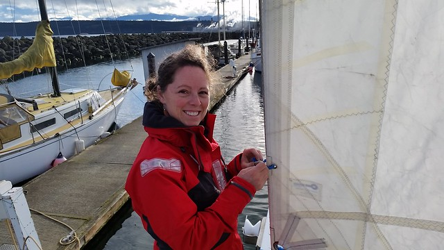 hanking on the staysail