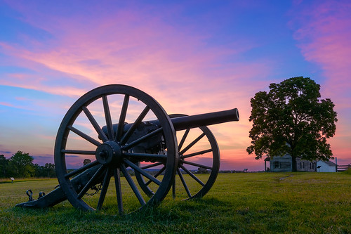 manassas manassasnationalbattlefieldpark virginia sunset henryhouse grass va trees hill landscape nikon