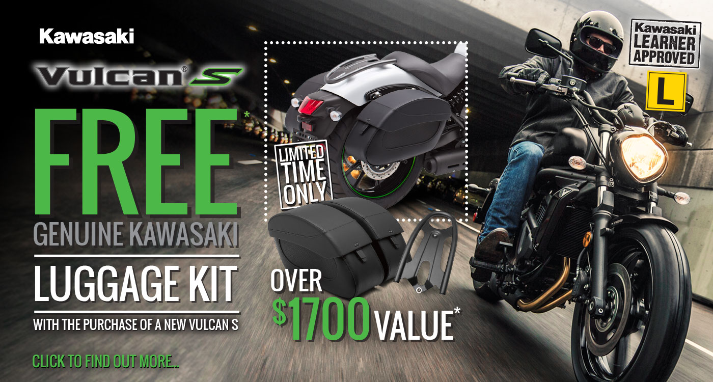 Vulcan S FREE Genuine Kawasaki Luggage Kit