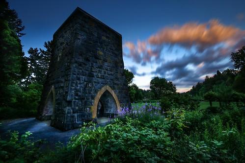 furnace industry history historical sunset clous flower dark mideval tower stone canon blend
