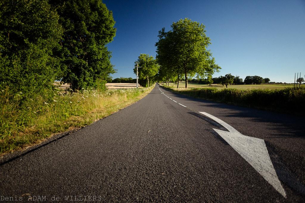 La vieille route est vidée